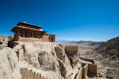 Guge Palace. Tibet Ali Guge palace ruins Stock Images
