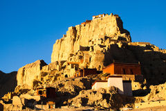 Guge palace ruins in Tibet Stock Photo