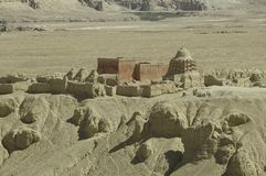 Guge in Tibet. Guge is a long lost kingdom in the history of Tibet. There are remains of stupa and monastry Stock Photos