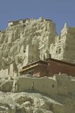Guge in Tibet. Guge is a long lost kingdom in the history of Tibet. Tsaparang castle in Guge is the major remains there Royalty Free Stock Image