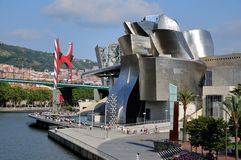 Guggemheim Museum in Bilbao Stock Images