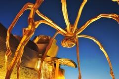 Guggenheim博物馆在毕尔巴鄂,西班牙 免版税库存图片