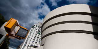 Guggenheim. Museum facade in New York City Stock Image