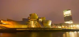 Музей Guggenheim Бильбао в декабре 2012. Стоковые Изображения RF