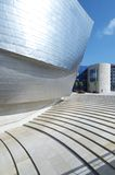 Guggenheim. Bilbao, Biscay, Basque Country, Spain, July 30, 2011: view of the main entrance of the  Guggenheim Museum. Guggenheim Museum is dedicated  exhibition Stock Photography