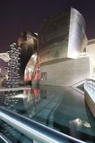 Guggenheim. Bilbao, Biscay, Basque Country, Spain, July 30, 2011: night view of the  Guggenheim Museum at sunset. Guggenheim Museum is dedicated  exhibition of Royalty Free Stock Photos