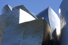 Guggenheim博物馆门面详细资料  免版税库存照片