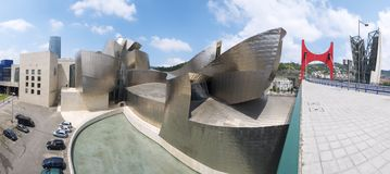 Guggenheim. Bilbao, Spain, July 30, 2011: view of the  Guggenheim Museum. Guggenheim Museum is dedicated  exhibition of modern art and was  designed by architect Stock Photography