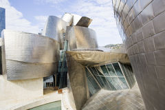 Guggenheim Bilbao. Close view of the Guggenheim museum in Bilbao, modern and emblematic building designed by Frank Gehry and with façades made with titanium Stock Photography