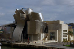 Guggenheim Bilbao. View of the Guggenheim Museum. Guggenheim Museum is dedicated exhibition of modern art and was designed by architect Frank Gehry Royalty Free Stock Images