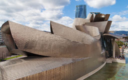 Guggenheim Bilbao by Frank Gehry Stock Photography