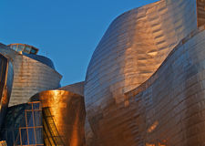 Guggenheim Bilbao Museoa at dusk Royalty Free Stock Image