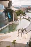 Guggenheim Bilbao museum. BILBAO, SPAIN - September 2017: Guggenheim Bilbao museum in Bilbao, Spain. Designed by Frank Gehry Royalty Free Stock Photo