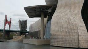 Guggenheim Bilbao museum. Bilbao Guggenheim museum facade detail Royalty Free Stock Images