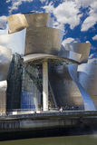 Guggenheim Bilbao museum hall. View of the hall of the Guggenheim museum in Bilbao Royalty Free Stock Images