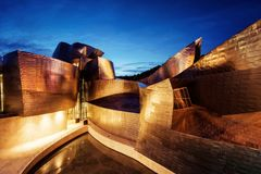 Guggenheim Bilbao Spain. Taken in 2015 taken in HDR Royalty Free Stock Photo