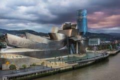 Guggenheim e nuvens Fotografia de Stock Royalty Free