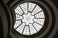 The guggenheim Museum. The top view of the guggenheim museum from inside Royalty Free Stock Images