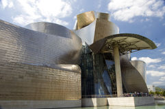 Guggenheim Museum, Bilbao. The Guggenheim Museum Bilbao is a registered trademark and that any use, commercial or non-commercial, needs prior authorization that Stock Images