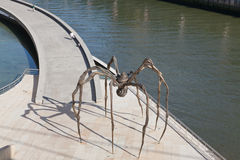 Guggenheim Museum Bilbao. Bilbao, Spain, June 16, 2012. Spider in bronze and marble, the work of Louise Bourgeois, located at the Guggenheim Museum Bilbao Royalty Free Stock Photography