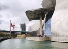 Guggenheim Museum in Bilbao. Royalty Free Stock Photos