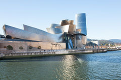 Guggenheim Museum of Bilbao. Bilbao, Spain - December 23, 2012: : Nervion, River, with the Guggenheim Museum by Frank O. Lehry, and Iberdrola Tower by Cesar Stock Photos