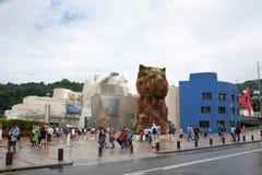 Guggenheim museum Bilbao Arkivbilder