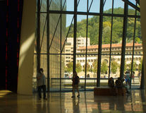 Guggenheim Museum, Bilbao, Basc Country, Spain, inside view. Inside view of the Guggenheim Museum building in Bilbao, Basc Country, Spain, showing the modernist Stock Photo