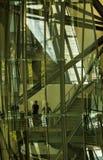 Guggenheim museum, Bilbao, Basc land, Spanien, inre sikt Royaltyfri Bild