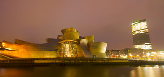 Guggenheim Museum Bilbao in December 2012. The Guggenheim Museum Bilbao is a registered trademark and that any use, commercial or non-commercial, needs prior Royalty Free Stock Images