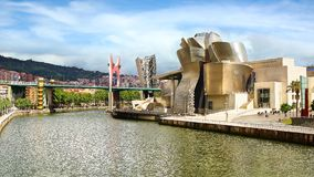 Guggenheim Museum Bilbao. Guggenheim Museum designed by architect Frank Gehry in Bilbao, Basque Country, Spain Stock Image