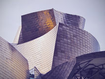The Guggenheim Museum Bilbao. Detailed view of The Guggenheim Museum in Bilbao, Biscay, Basque Country, Spain Stock Photo