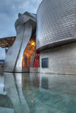 Guggenheim Museum Bilbao at night Stock Photography