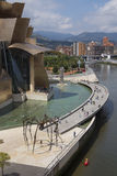 Guggenheim Museum - Bilbao - Spain. The Guggenheim Museum Bilbao is a registered trademark and that any use, commercial or non-commercial, needs prior Royalty Free Stock Images