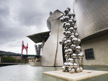 Guggenheim Museum in Bilbao, Spain. Stock Images