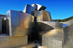 Guggenheim Museum in Bilbao, Spain. The Guggenheim Museum Bilbao is a registered trademark and that any use, commercial or non-commercial, needs prior Royalty Free Stock Photography
