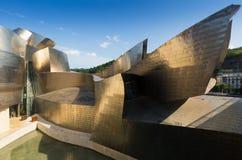 Guggenheim Museum in Bilbao. Spain. BILBAO, SPAIN - JULY 4, 2015: Guggenheim Museum in Bilbao. Spain stock images