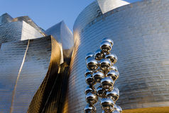 Guggenheim Museum. BILBAO, SPAIN - JULY 4, 2013: Exterior view of the Guggenheim Museum on July 4, 2013 in Bilbao, Spain. This Museum is dedicated exhibition of Stock Photography