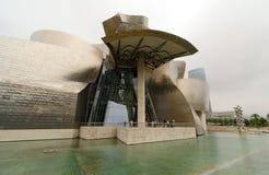 Guggenheim Museum. Bilbao. BILBAO, SPAIN - JULY 2, 2013: Exterior view of the Guggenheim Museum on July 2, 2013 in Bilbao, Spain. This Museum is dedicated Royalty Free Stock Images