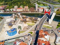 The Guggenheim Museum in Bilbao royalty free stock photos