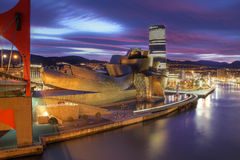 Guggenheim Museum in Bilbao, Spanien Stockfotografie