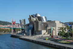 Guggenheim museum in Bilbao Royalty Free Stock Images