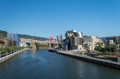 Guggenheim museum in Bilbao Stock Photography