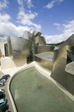 The Guggenheim Museum of Contemporary Art of Bilbao (Bilbo), located on the North Coast of Spain in the Basque region. Nicknamed T Stock Image