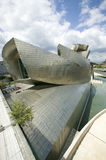 The Guggenheim Museum of Contemporary Art of Bilbao (Bilbo), located on the North Coast of Spain in the Basque region. Nicknamed T Stock Photography