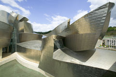 The Guggenheim Museum of Contemporary Art of Bilbao (Bilbo), located on the North Coast of Spain in the Basque region. Nicknamed T Stock Photos