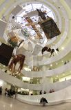 Guggenheim museum interior with Cattelans artwork, vertical Stock Photography