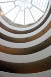 Guggenheim museum interior ceiling Royalty Free Stock Photos