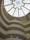 Guggenheim Museum Interior in New York Stock Images