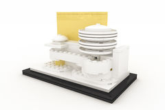 Guggenheim museum made by plastic bricks Royalty Free Stock Image